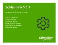 Comparación SoMachine con otros fabricantes - Schneider Electric