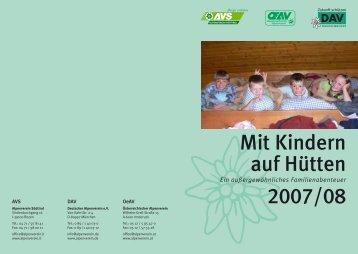 Mit Kindern auf Hütten 2007/08