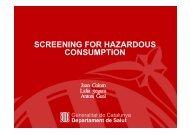 Screening for risky consumption