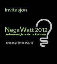 NegaWatt 2012 - Schneider Electric