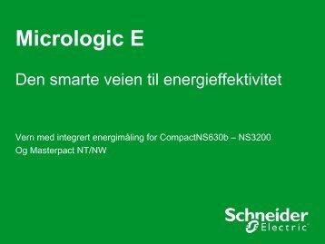 Micrologic E vern presentasjon - Schneider Electric