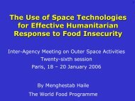 Global Monitoring for Food Security - United Nations Coordination of ...