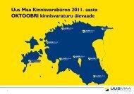 2011. a oktoobrikuu turuülevaade - Uus Maa