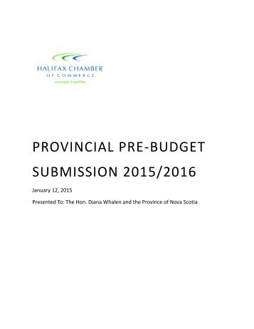 Provincial-Pre-Budget-Submission-2015-2016-Final
