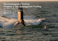 Electromagnetic Testing Chapter 3- Electromagnetic Testing