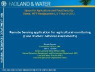 Remote Sensing application for agricultural monitoring (Case ...