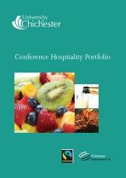 Conference Hospitality Portfolio - University of Chichester