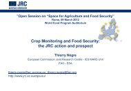 Crop Monitoring and Food Security - United Nations Coordination of ...