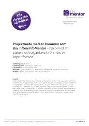 Projektmöte med en kommun som ska införa InfoMentor – hjälp med ...