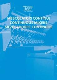 mescolatori continui continuous mixers mezcladores ... - Meta-Mak