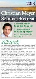 2013 Christian Meyer Sommer-Retreat - zeit-und-raum