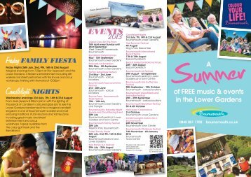 Bournemouth Summer Events Leaflet