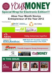 Issue 31 - June 2013 - Your Money