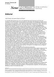 Editorial - Neue Politik