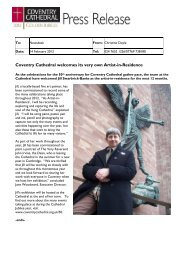 Coventry Cathedral welcomes its very own Artist-in-Residence
