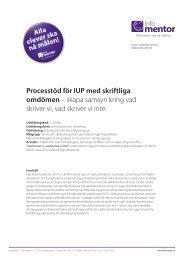 Processtöd för IUP med skriftliga omdömen – skapa ... - InfoMentor