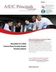 A/E/C Principals Bootcamp - Canada Consulting Engineers