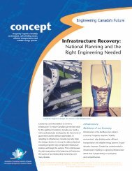 Infrastructure Recovery - Canada Consulting Engineers