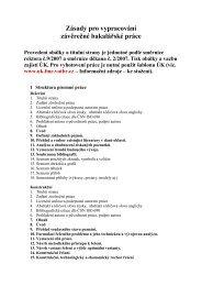 Zásady pro vypracování závěrečné bakalářské práce