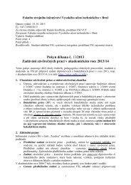 Pokyn děkana č. 13/2013 - Vysoké učení technické v Brně