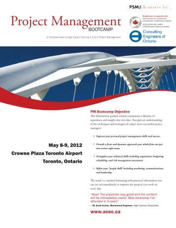 Project Management - Canada Consulting Engineers