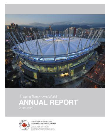 ACEC Annual Report (2012-2013) - Canada Consulting Engineers