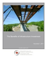 The Benefits of Infrastructure Investment - Canada Consulting ...