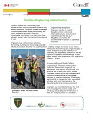 The Role of Engineering in Infrastructure - Canada Consulting ...
