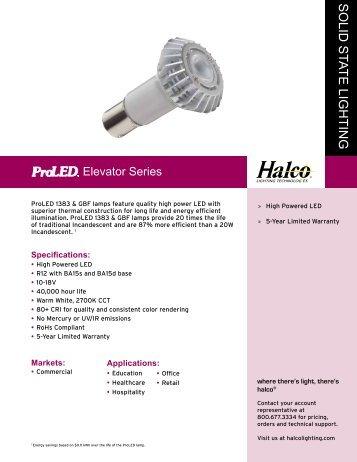 Sell Sheets - Halco Lighting