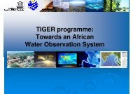 TIGER programme: Towards an African Water Observation System