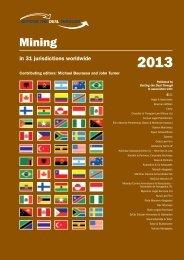 Mining In 31 Jurisdictions Worldwide - Holland & Hart