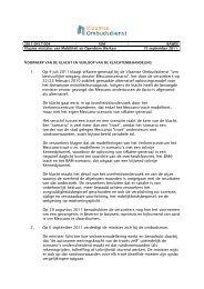 1. Op 4 juli 2011 klaagt stRaten-generaal bij de Vlaamse ...