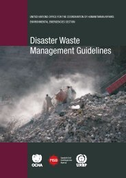 Disaster Waste Management Guidelines - OCHANet