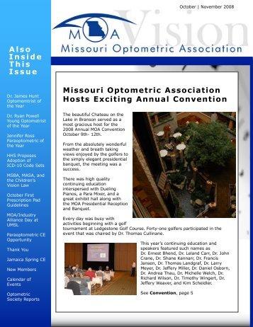 October   November - Missouri Optometric Association