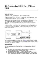 Die Schnittstellen EIDE, Ultra DMA und SCSI - Netzwerk-welt.de