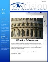 April - Missouri Optometric Association