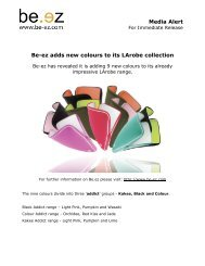 Media Alert Be-ez adds new colours to its LArobe collection
