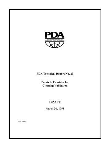 Process Validation PDA Technical Report No. 60 as a
