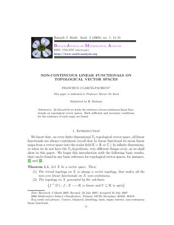 Non-continuous linear functionals on topological vector spaces