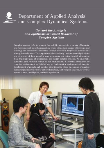 Department of Applied Analysis and Complex Dynamical Systems