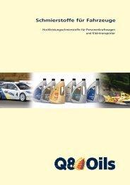 Schmierstoffe für Fahrzeuge