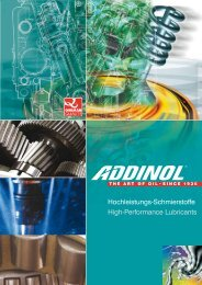 Hochleistungs-Schmierstoffe High-Performance Lubricants