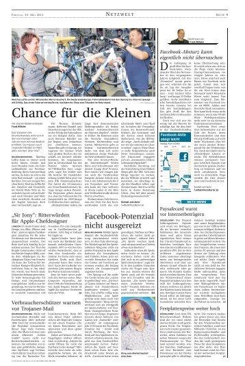 Facebook-Absturz kann eigentlich nicht ... - Fahrradhaus Leffin