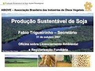 Produção Sustentável de Soja - ABIOVE - Associação Brasileira das ...