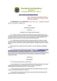 Presidência da República - ABIOVE - Associação Brasileira das ...