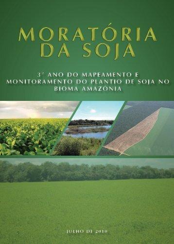 Mapeamento e Monitoramento do Plantio de Soja no Bioma Amazônia