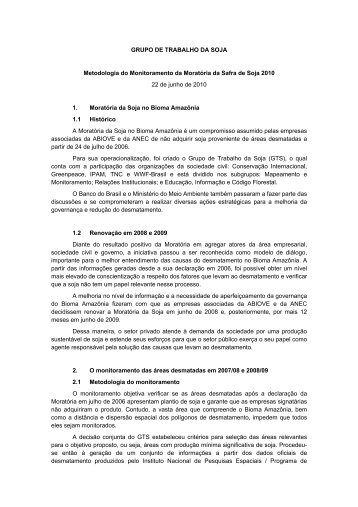 Manual do Monitoramento da Moratória da Soja - ABIOVE ...