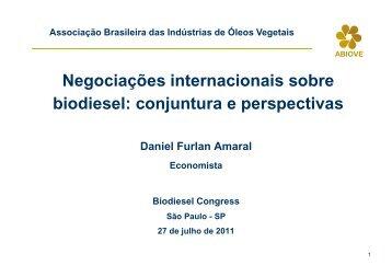 12. Biodiesel Congress - ABIOVE - Associação Brasileira das ...