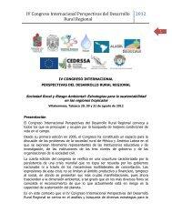 IV Congreso Internacional Perspectivas del Desarrollo Rural Regional