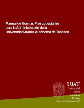 Manual de Normas Presupuestarias - Universidad Juárez Autónoma ...